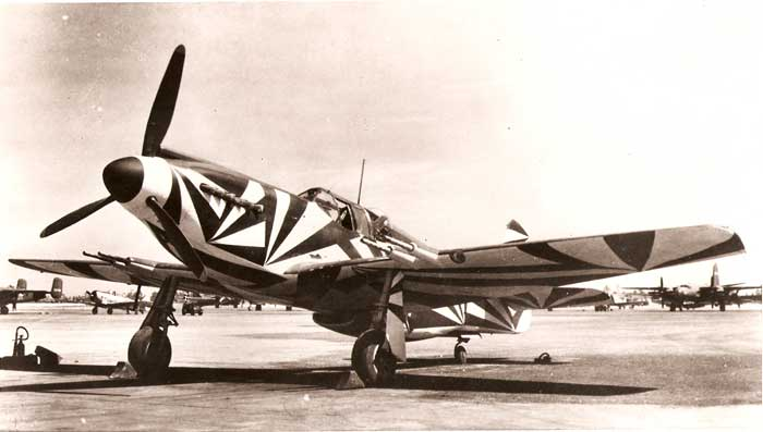 P-51A Mustang equipped with four 20mm cannons